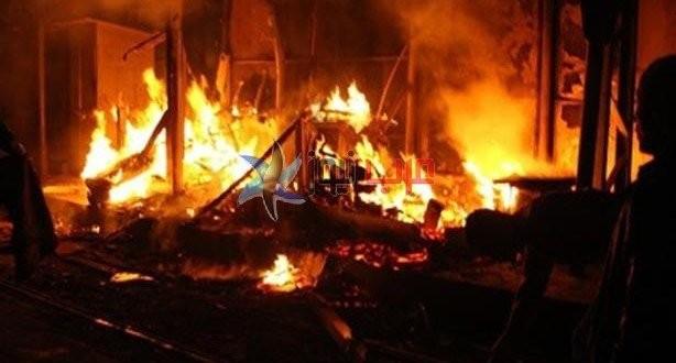 7 إصابات في احتراق مخزن بالمنوفية.. و8 سيارات إطفاء لإخماد الحريق