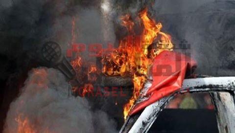 """احتراق """"13"""" طالبا واصابة """"18"""" فى اصطدام اتوبيس مدارس بسيارة بنزين بمحافظة البحيرة"""