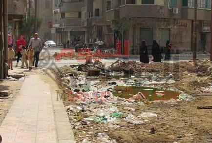 مدرسة الصنايع بالفيوم محاصرة بالقمامة ومياه الصرف الصحي