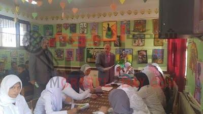بالصور : زيارة الاستاذ ياسر عمر وكيل مديرية التربية والتعليم الى مدارس ادارة ابشواي التعليمية بالفيوم
