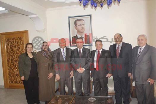 محافظ ريف دمشق يستقبل المهندس حسين مخلوف