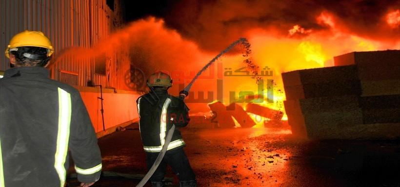 بالفيديو.حريق بكلية هندسة شبين وتصاعد ألسنة اللهب بالمنوفية