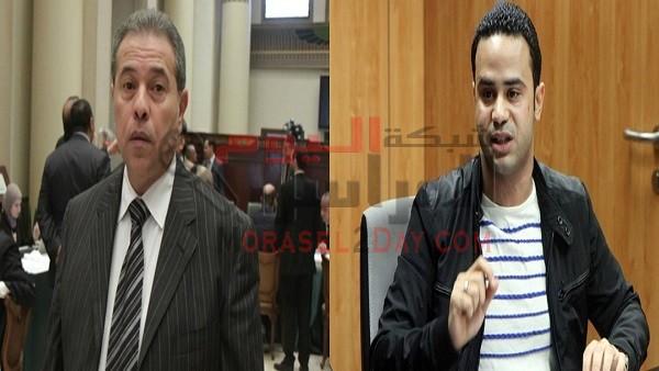 محمود بدر يطالب بإسقاط عضوية توفيق عكاشة من البرلمان