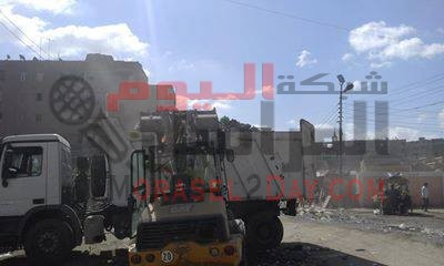 حملات مكبرة للنظافة العامة ورفع الإشغالات بمدينة الفيوم