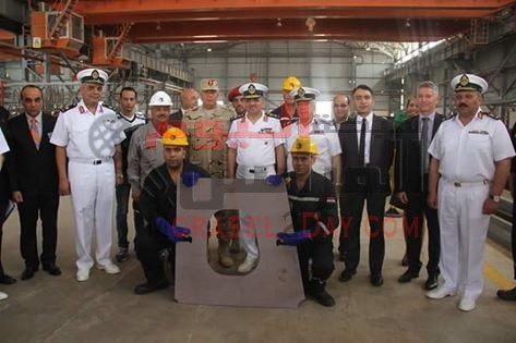 شركة ترسانة الإسكندرية تحتفل بقطع أول لوح معدنى لتصنيع أول سفينة حربية طراز (GOWIND ) …