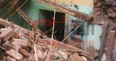 اصابة 5 اشخاص باصابات خطرة اثر انهيار منزل باطسا في الفيوم