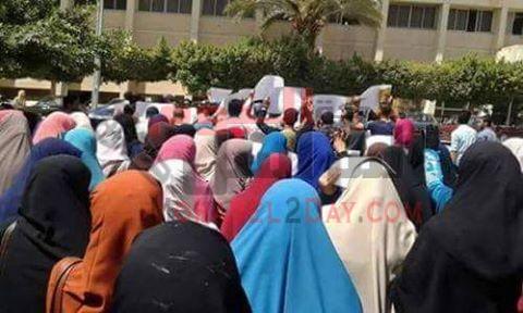 فض مسيرة محدودة لطلاب جامعة الفيوم
