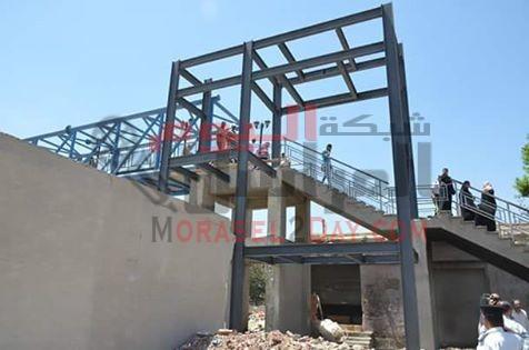 بدء مشروع المصاعد الكهربائية لكوبري المشاه بالاسماعيلية