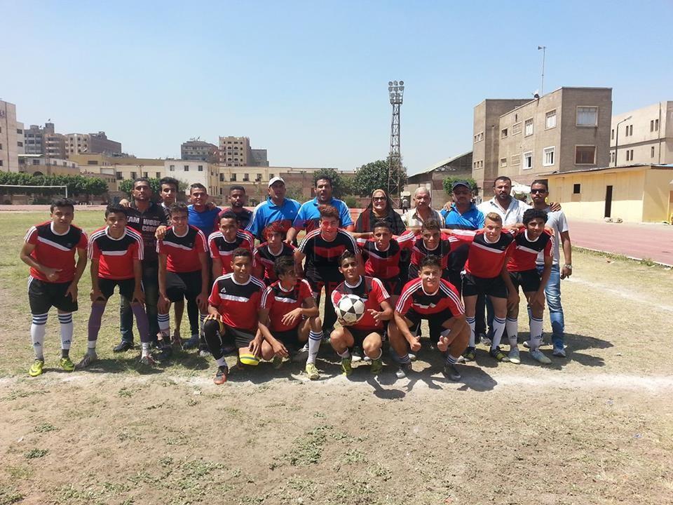 تعليم الفيوم الثانوى يحصل على المركز الاول فى لعبه كره القدم لقطاع الناشئين