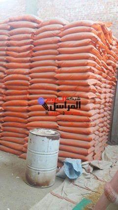 ضبط 102 طن أسمدة زراعية مدعمة مجهولة المصدر بالمنيا.