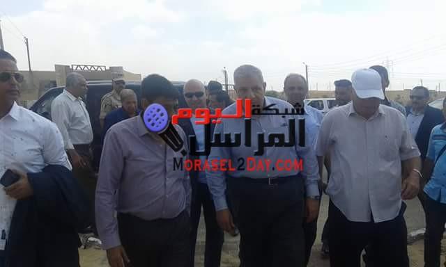 زيارة محلب الي قرية الامل بالقنطره شرق