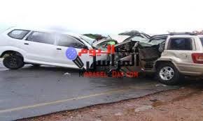 مصرع عامل وإصابة 11 إثر تصادم سيارتين على طريق «مصر – الفيوم»