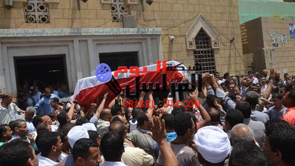 تشيع جنازة شهيد الواجب بسيناء في مسقط رأسه ببني سويف الأربعاء