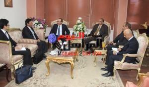 محافظ بني سويف وسفير اليابان بالقاهرة