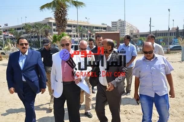 محافظ الاسماعيلية ومدير الأمن يتفقدان أعمال تطوير ورفع كفاءة حديقة الشيخ زايد