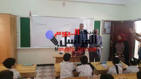 مدير أمن بنى سويف يتفقد مدارس المحافظة للأطمئنان على الحالة الأمنية