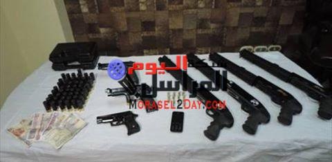 ضبط 20 قطعة سلاح في حملة أمنية ببني سويف