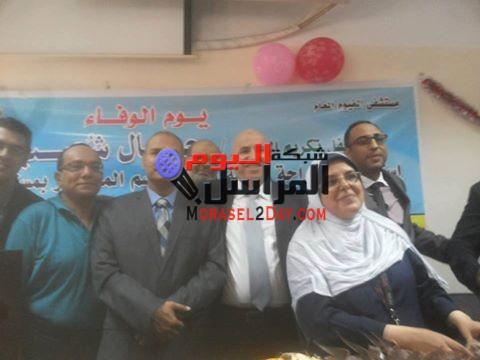مستشفي الفيوم العام تكرم الدكتور جمال شعيب لبلوغة سن المعاش