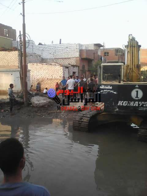 غرق قرية منيه الحيط بمركز اطسا بالفيوم