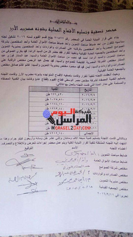 نكشف بالمستندات :- أسماء قوائم صوامع القمح الفاسدة بمحافظة الفيوم