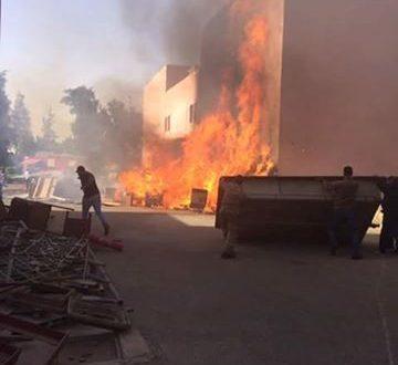 الحماية المدنية تسيطر على حريق مخلفات وأخشاب بمدينة الإنتاج الإعلامى