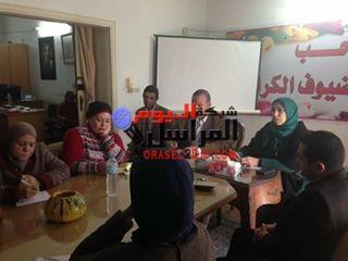 بالصور المجلس القومى يعقد اجتماع مع رئيس مدينه بنى سويف لبحث مشاكل القرى