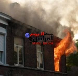 حريق هائل بمنزل مواطن بقرية غرب الموهوب بمركز الداخلة الوادى الجديد .