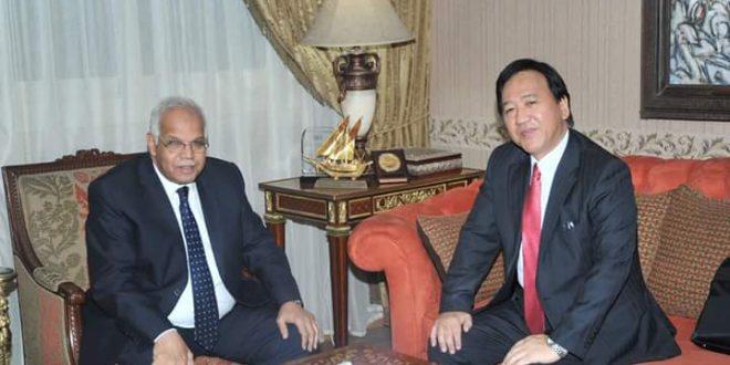 وزير النقل يستقبل سفير اليابان بالقاهرة
