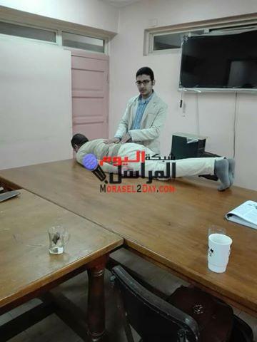 بالصور صحه بنى سويف تلقى محاضره عن الام الظهر