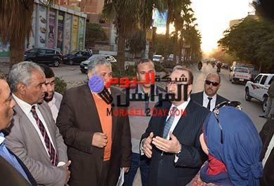 بالصور محافظ بني سويف يتفقد أعمال تطوير شارع عبدالسلام عارف
