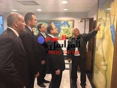 اللواء مجدى عبد الغفار يتفقد خدمات تأمين السد العالى بأسوان