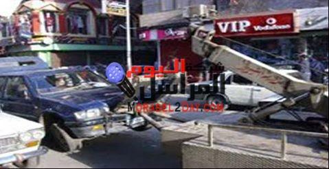 مدير أمن الفيوم يأمر بسحب سيارة شرطة تقف فى الممنوع