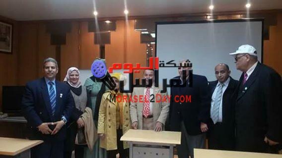 بالصور  منظمة الشعوب والبرلمانات العربية فى زيارة إلى وكالة أنباء الشرق الأوسط وتكرم حيدر
