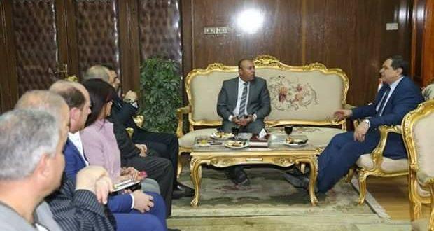 سعفان وعبدالباسط يلتقيان أعضاء مجلس النواب لدعم الملتقي التوظيفي بالمنوفية