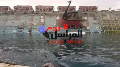 """نشطاء يتداولون خبر إنقلاب سفينة """"شهد كليوباترا"""" بمنطقة الزيتيات، بسبب سوء الأحوال الجوية والرياح."""