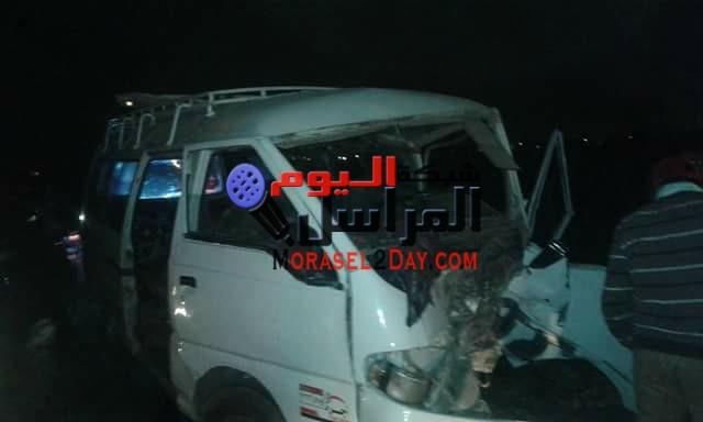 بالأسماء| إصابة 6 أشخاص في تصادم سيارتين بيني سويف