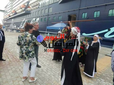 """ووصول 2366 سائحاً لميناء الإسكندرية على متن الباخرة السياحية المالطية """"مين شيف ثري"""""""
