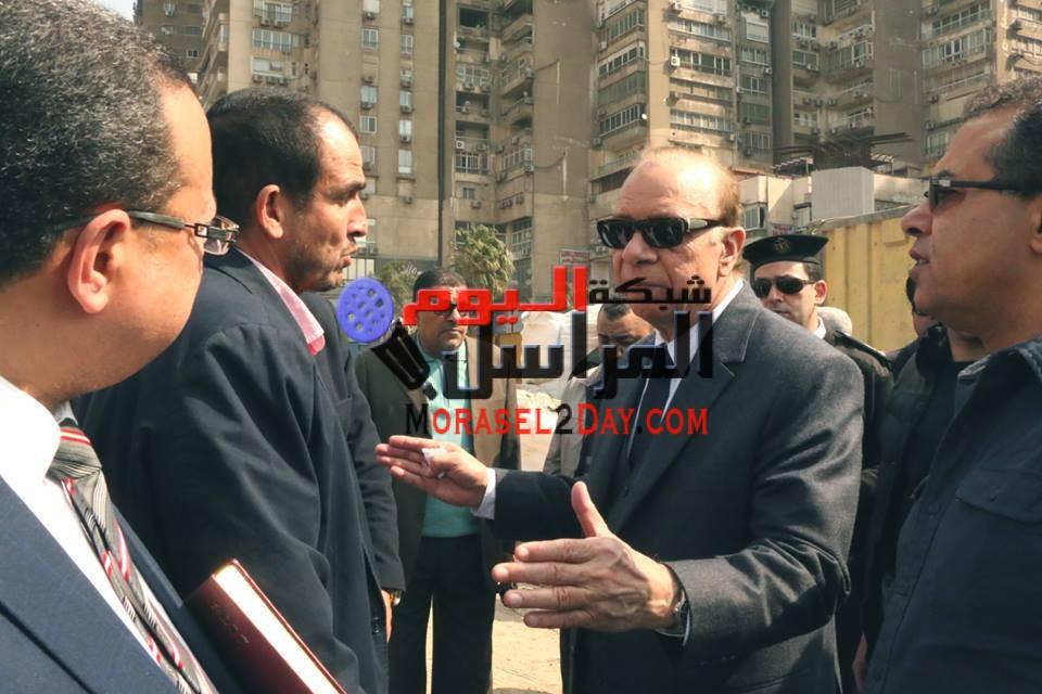 محافظ القاهرة يتابع عملية تبريد خط الغاز بالتجمع الخامس