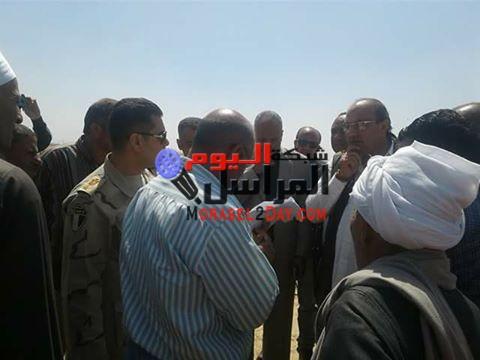 بالصور القوات المسلحة تسلم 3 افدنة اخر ى لإنشاء محطة معالجة صرف بالواسطى بنى سويف