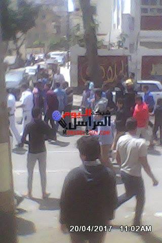 تفجير قنبلة فى منطقة محرم بيك بالاسكندرية