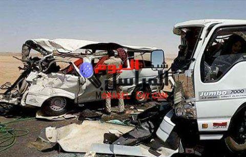 إصابة 10 مواطنين في تصادم سيارتين على الطريق السياحي بالفيوم