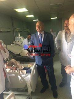 بالصور وكيل صحة بني سويف فى زياره مفاجئه لمستشفى ناصر المركزي