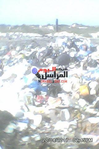 اهالى برج العرب بالاسكندرية يستجيرون بالمحافظ من القاء القمامة بالقرب من منازلهم