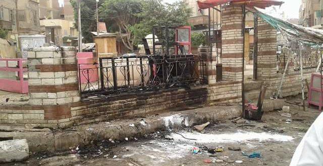 بالصور..السيطرة على حريق بسرادق لبيع المواد الغذائية بمدينة ببا جنوب بنى سويف