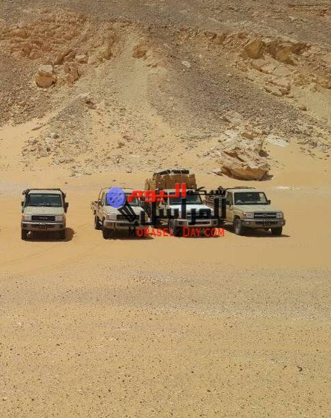 المتحدث العسكرى: قوات حرس الحدود تتمكن من ضبط بضائع غير خالصة الرسوم الجمركية بمنطقة ( بحر الرمال الأعظم )