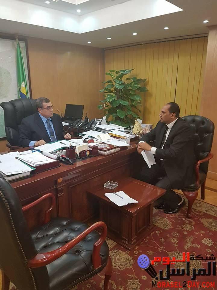 محافظ الفيوم  يستقبل المحامى ربيع أبو الفضل عضو الأمانة العامة بجمعية من أجل مصر