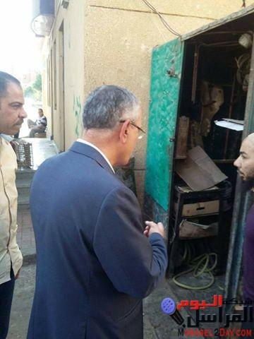 """محافظ المنيا """" يحيل """" رؤساء قرى للتحقيق لسوء حالة النظافة والتعدي على الأراضى الزراعية"""
