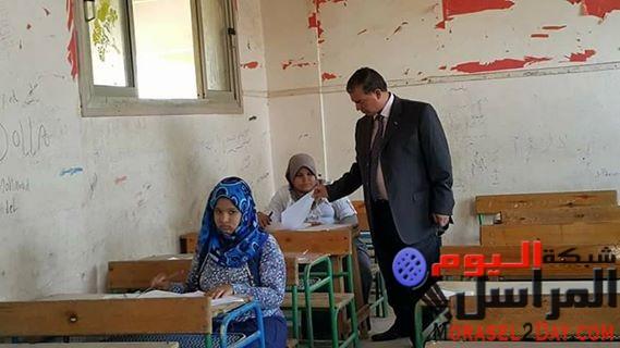 متابعة وكيل الوزارة امتحانات الدور الثاني للمرحلة الابتدائية والإعدادية بإدارة سنورس التعليمية