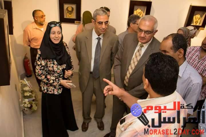 افتتاح معرض الفنانة الدكتورة شمس غربية بدار ابن لفمان بالمنصورة
