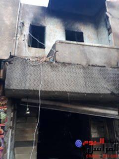 حريق شقة وثلاثة محلات بمركز أبشواي في ظروف غامضة
